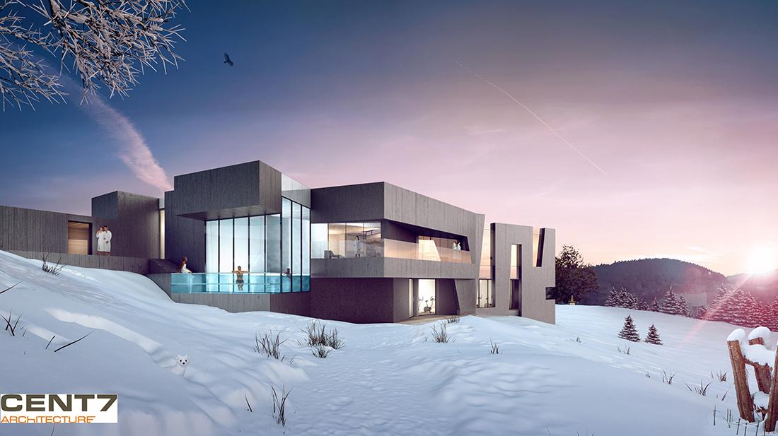 spa d tente et nature cent7 architecture. Black Bedroom Furniture Sets. Home Design Ideas